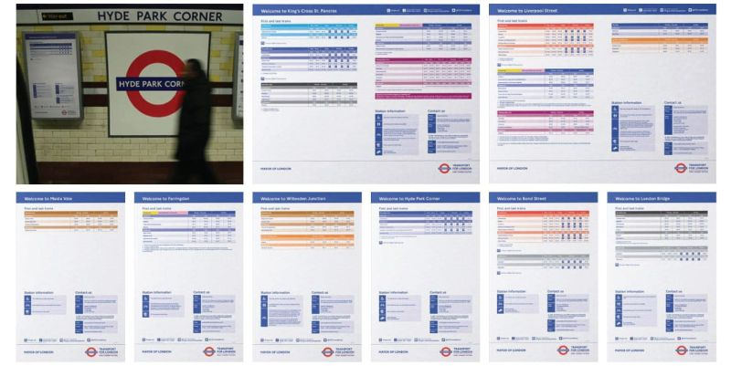 270 London Underground Station 'Welcome Posters' including first and last train information