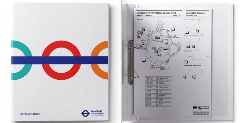 270 x London Underground publicity site station layout plans
