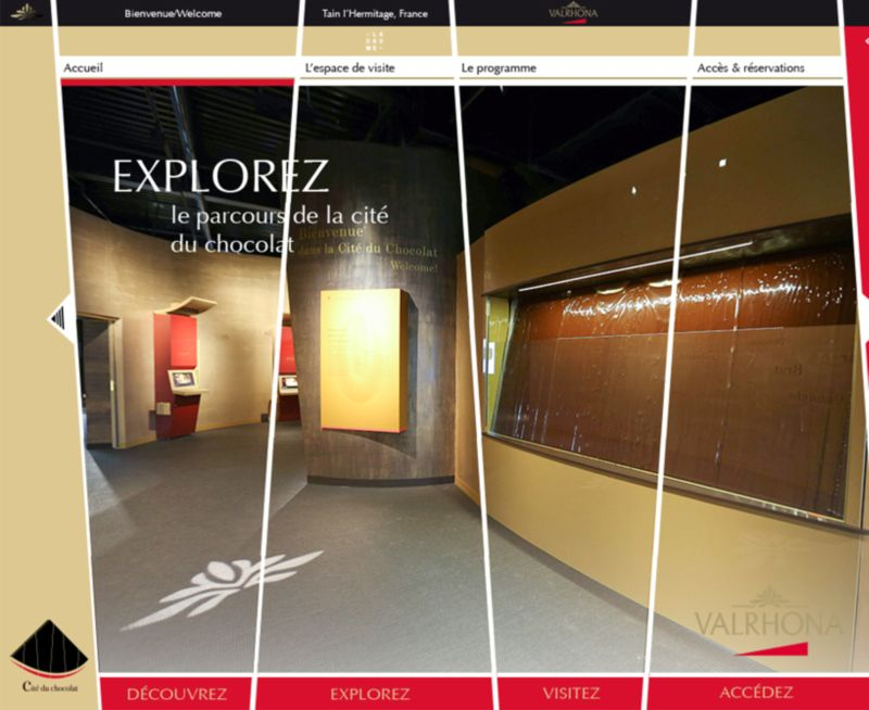 Motion Design // Web site Show x Valrhona (Chocolaterie)