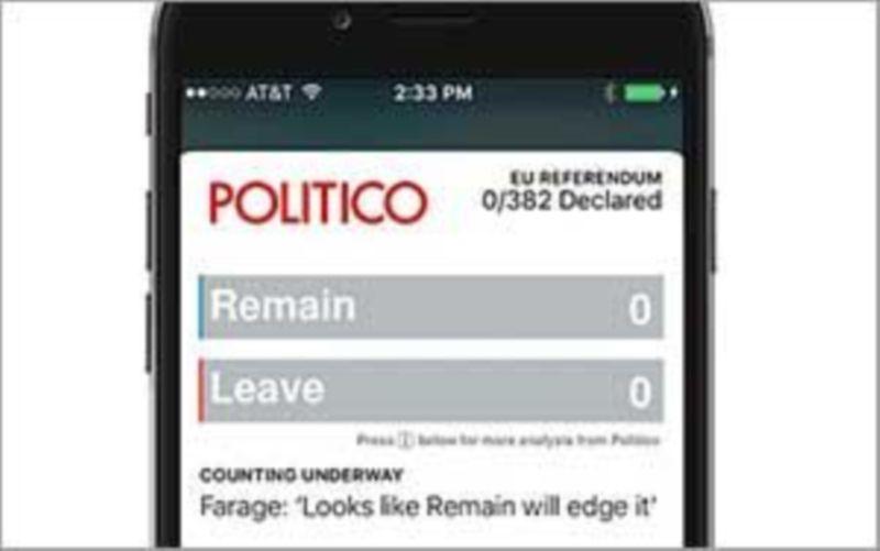 Politico - EU Referendum Tracker App