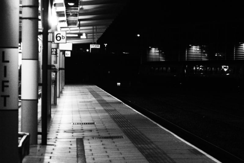 Photography: Train stations at night