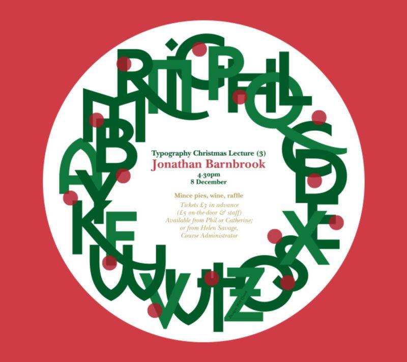 Barnbrook Christmas Poster