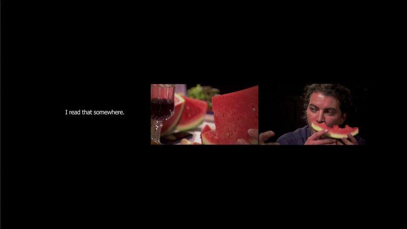 'Trespass the salt' 3 channel video Installation