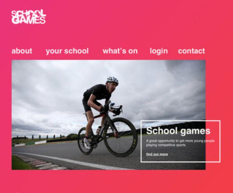 School Games website concept re design