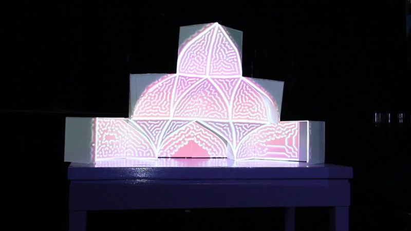 Muqarnas projection mapping