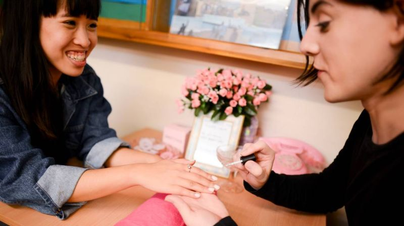 Broadly Article: The Trans Manicurist Trading Nail Art For Education