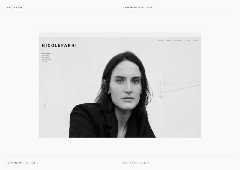 Nicole Farhi - AW16 Digital Design