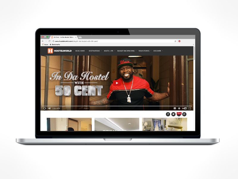 In Da Hostel - Marketing Campaign featuring 50 Cent (Hostelworld Group)