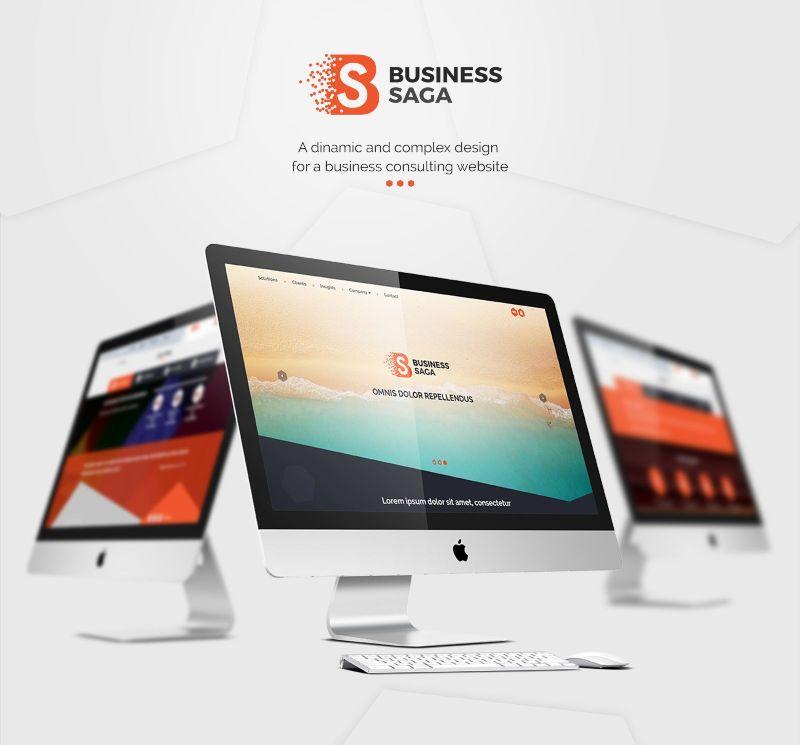 Business Saga - website and logo creation