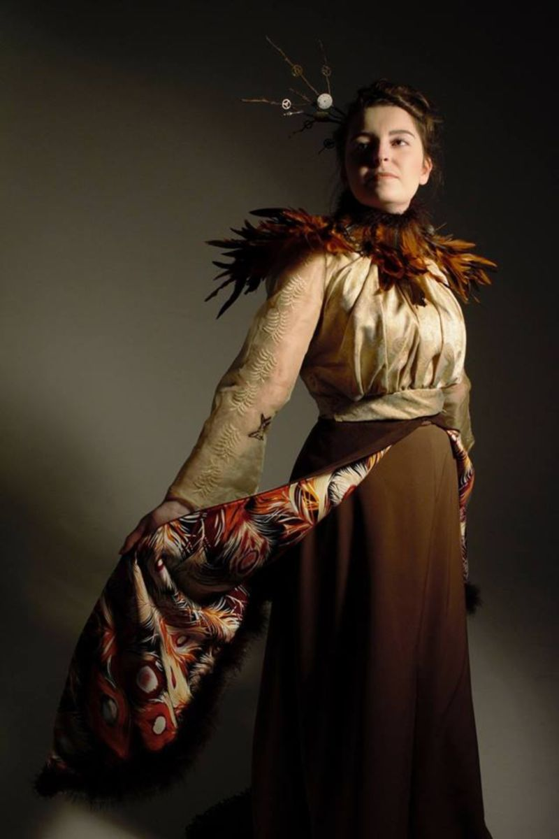 Edwardian costume inspired by the book Einstein's Dreams