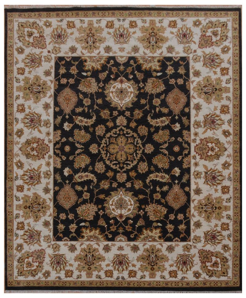 JP-2617 The Traditional Sultanabad Collection's Black Wool Rug from HouzzStudio