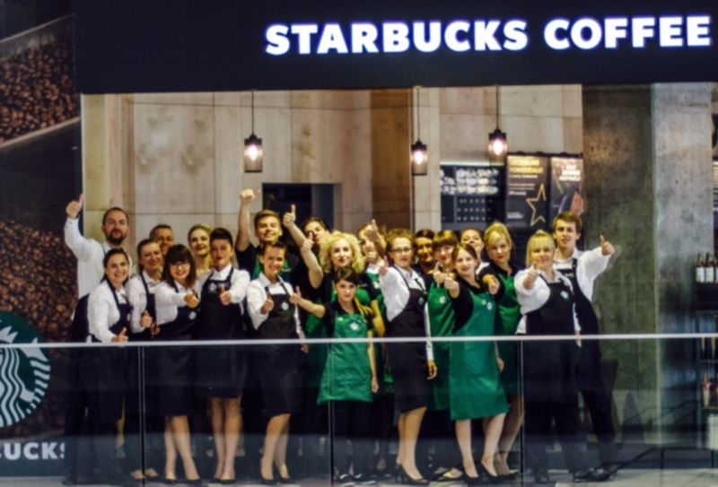 Opening of the first Starbucks café in Lodz city 2015