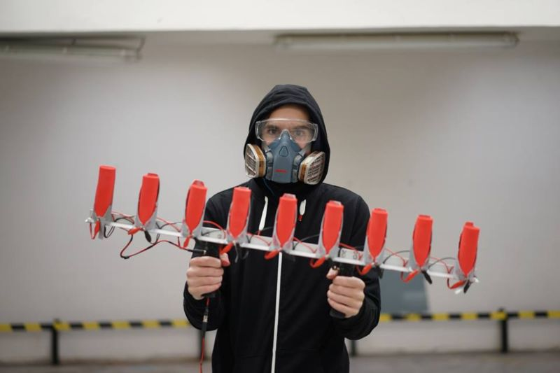 MICHAL KOHUT – IGNITION   Curator Jiwon Choi introduces The Name of the Project is Project Itself action painter Michal Kohut's new installation of hand held rocket propelled artistry.