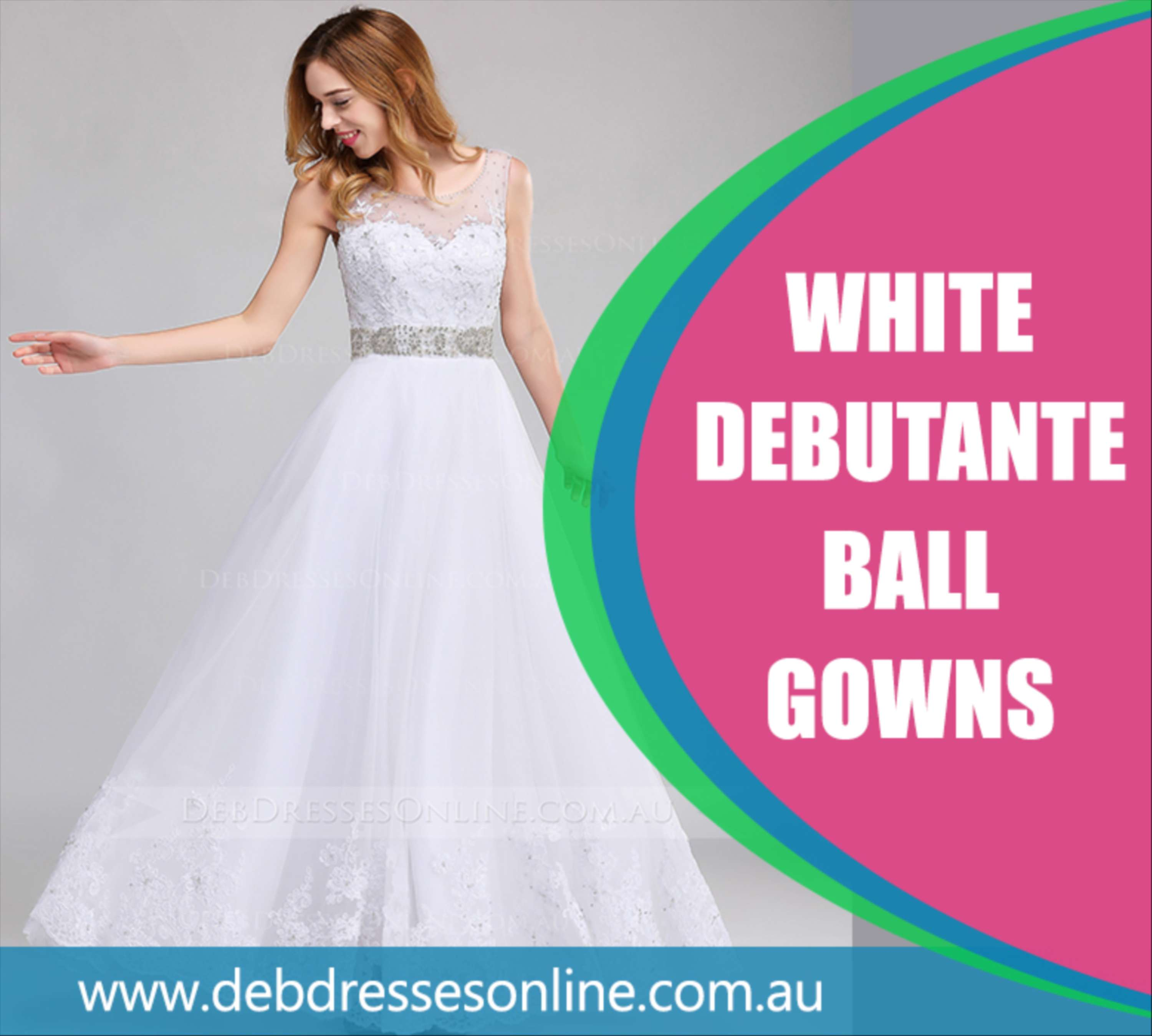 White Debutante Ball Gowns | The Dots
