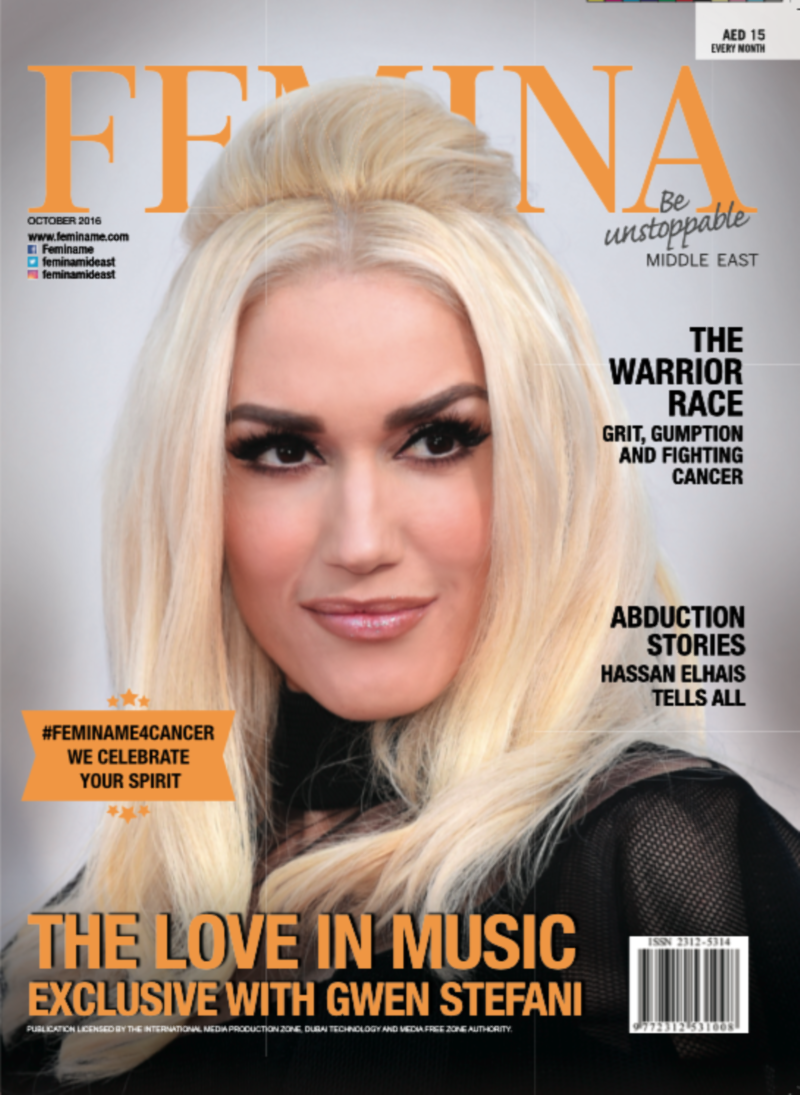 Femina Middle East, Gwen Stefani Cover Story