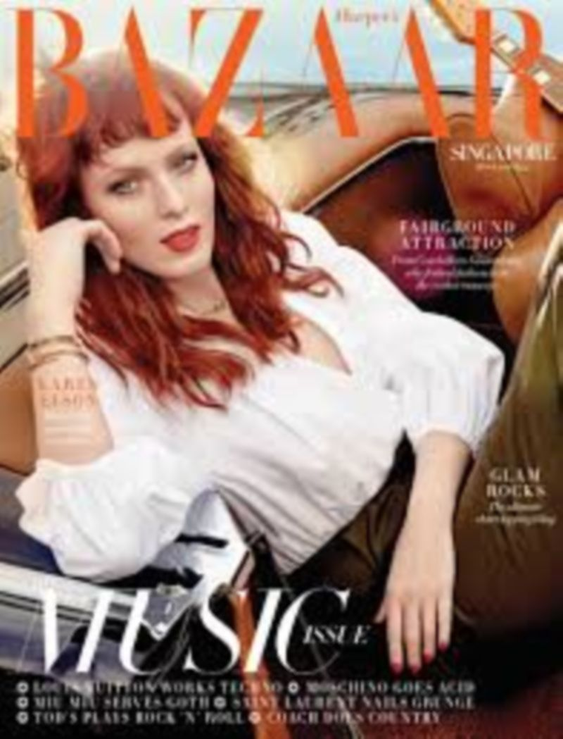 Highway to Heaven by Bre Graham.  Karen Elson Harper's Bazaar Singapore & Malaysia Cover Feature