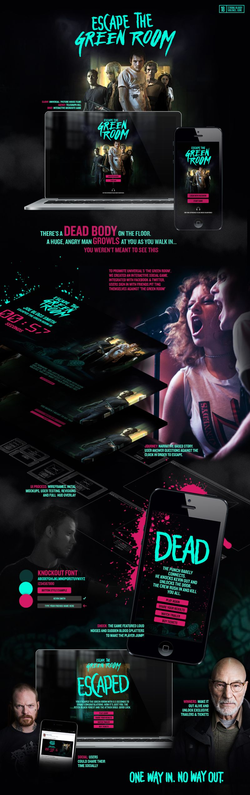Escape The Green Room - Interactive Microsite