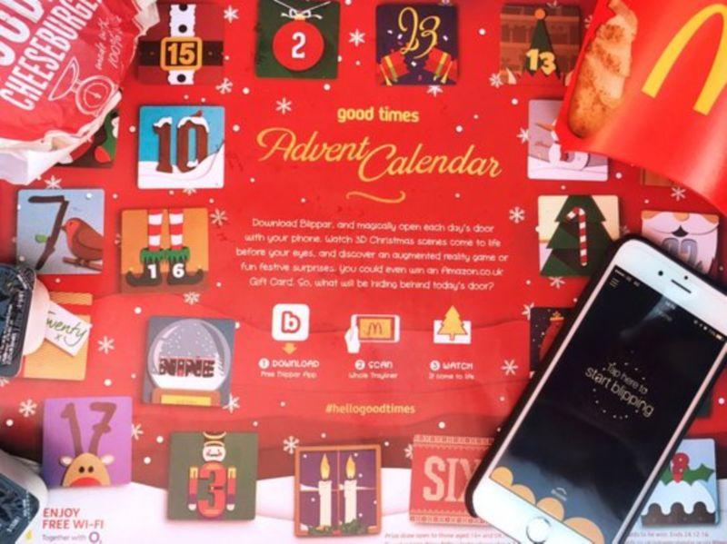 McDonalds Interactive Christmas Trayliner