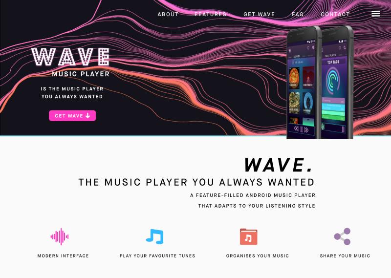 Wave Music App Design Concept