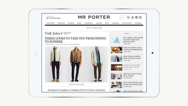 Mr Porter The Daily Design
