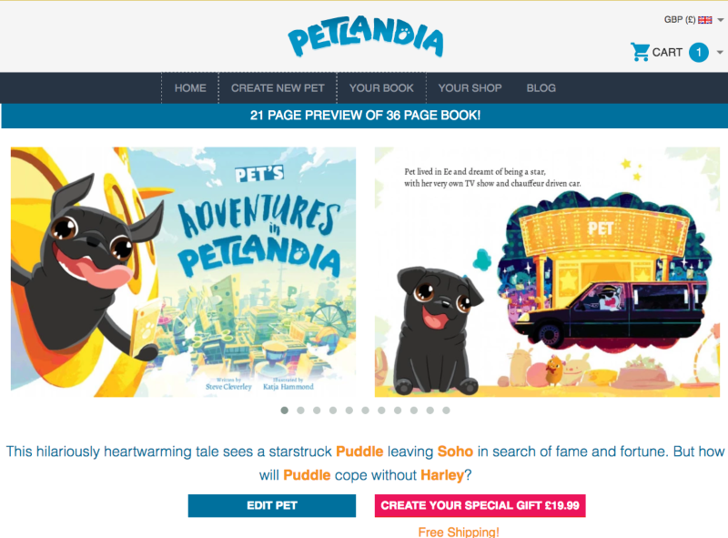 Conversion Rate Optimisation for Petlandia.com, a personalised gift book merchandiser