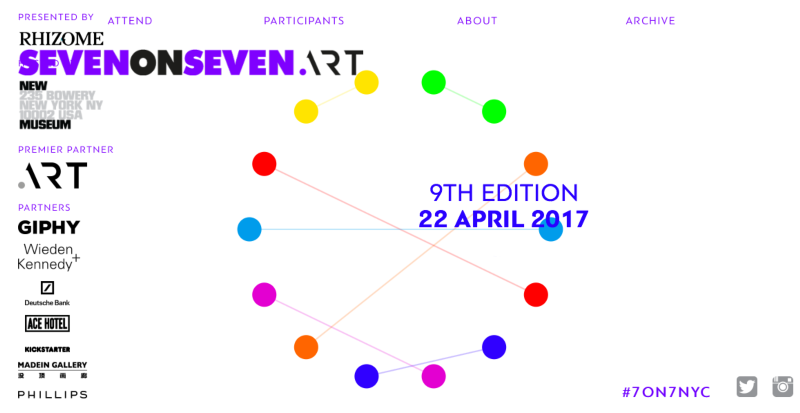 .ART Partnership with Rhizome for Seven on Seven