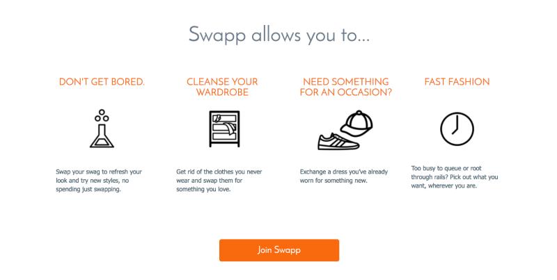 Clothes swap marketplace app