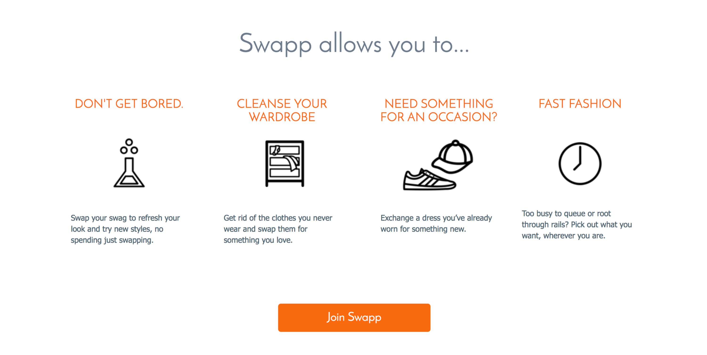 Clothes swap marketplace app | The Dots