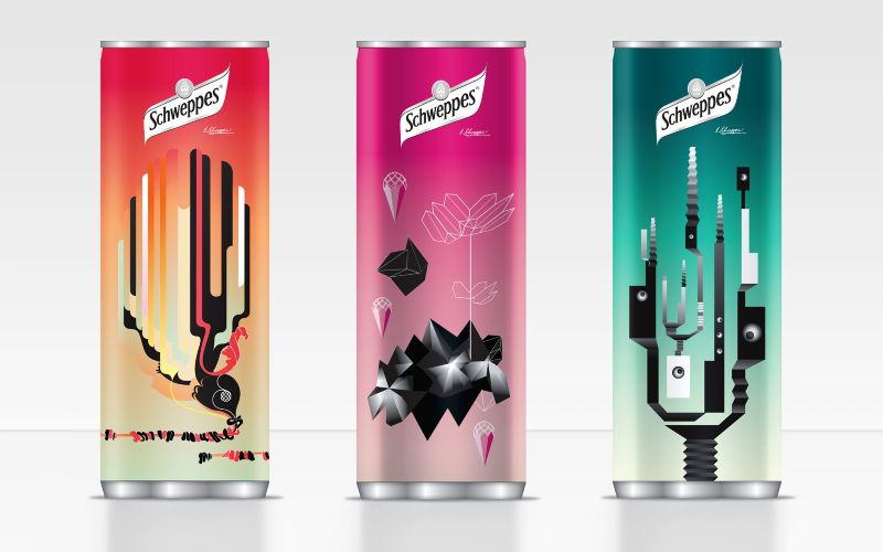 Schweppes slim cans