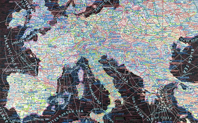 WeTransfer x Paula Scher: MAPS