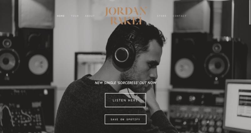 Web Design - Jordan Rakei