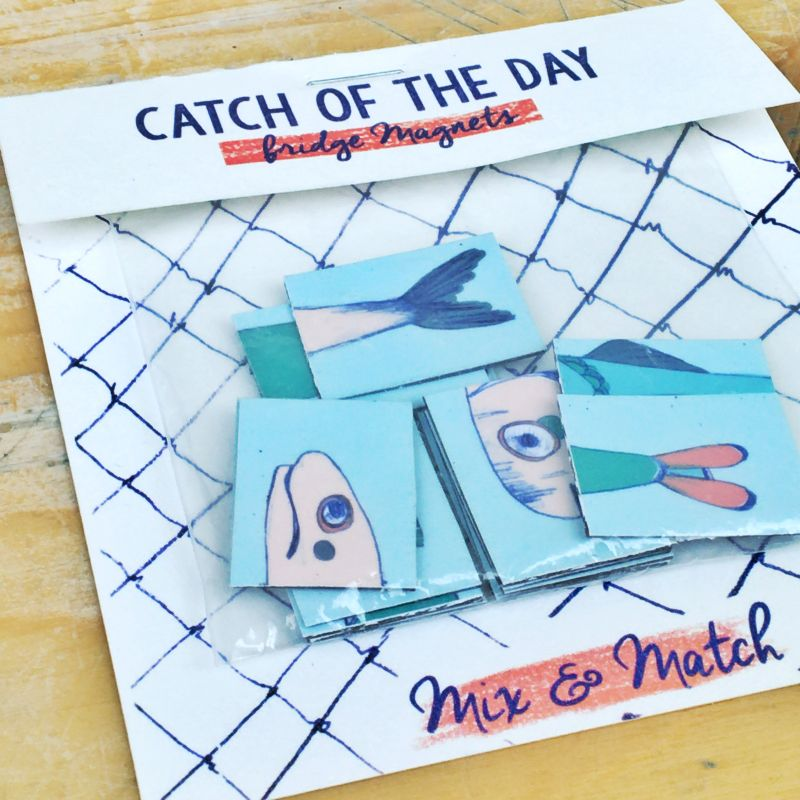 'Catch of the day' - Fish Magnets