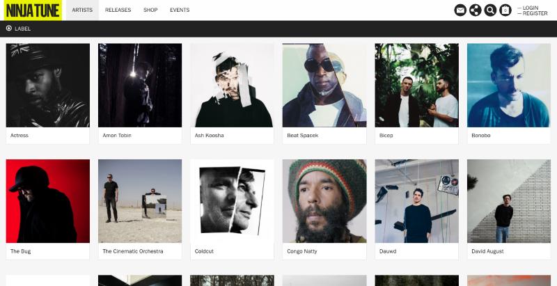 Ninja Tune - Website Build