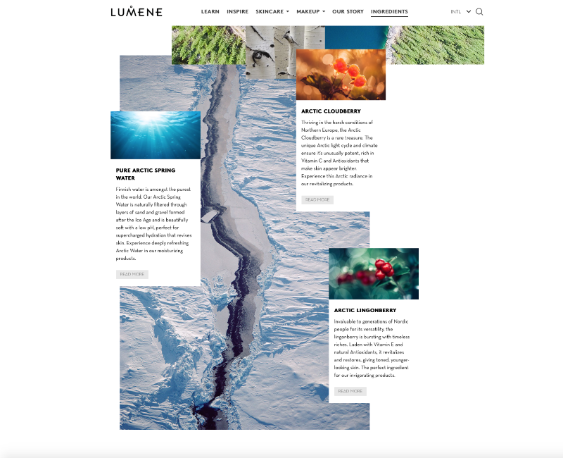 Lumene Website