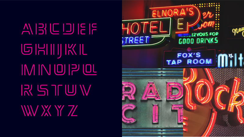 Neon Display Typeface
