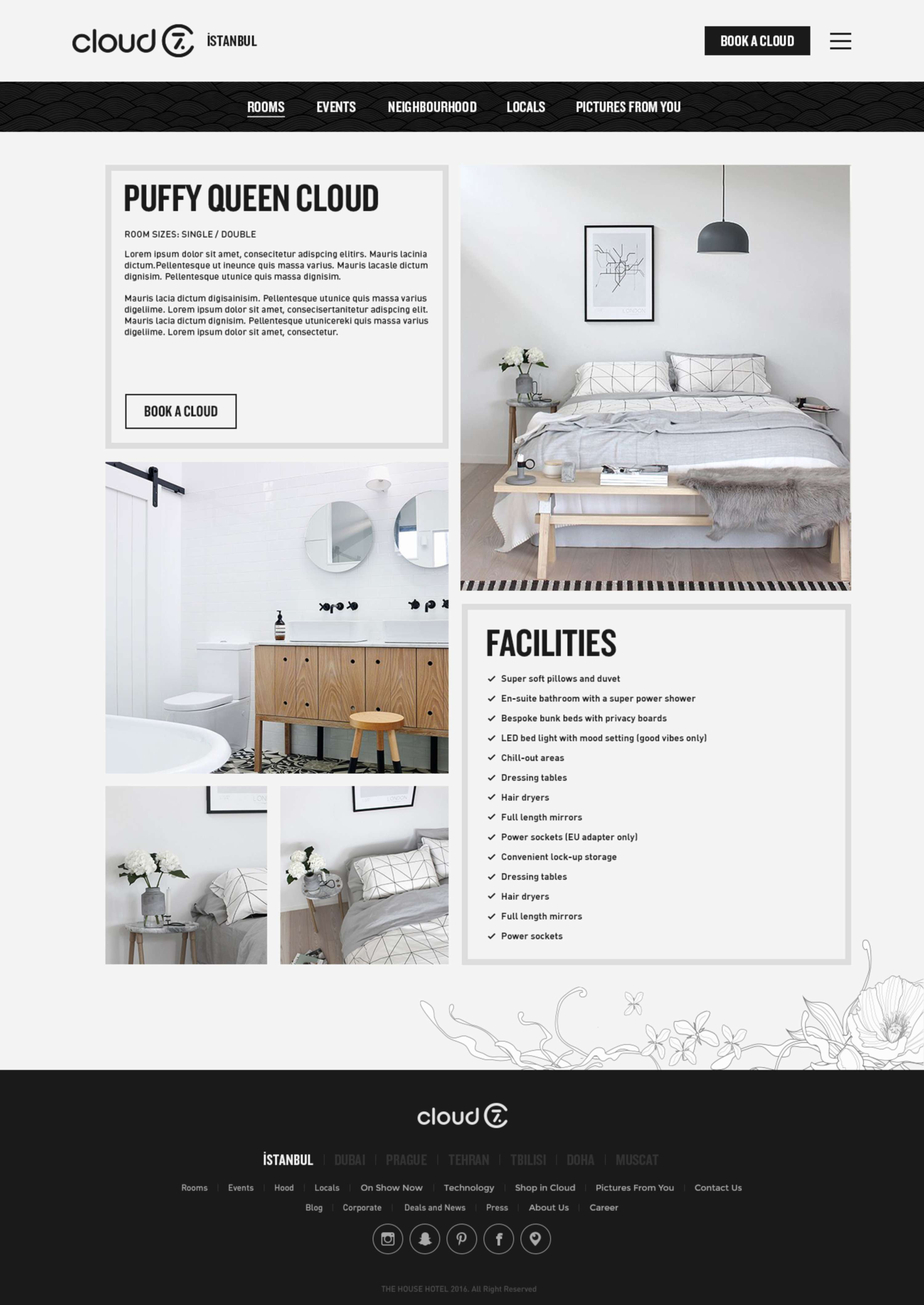 Cloud 7 Hotels Website The Dots