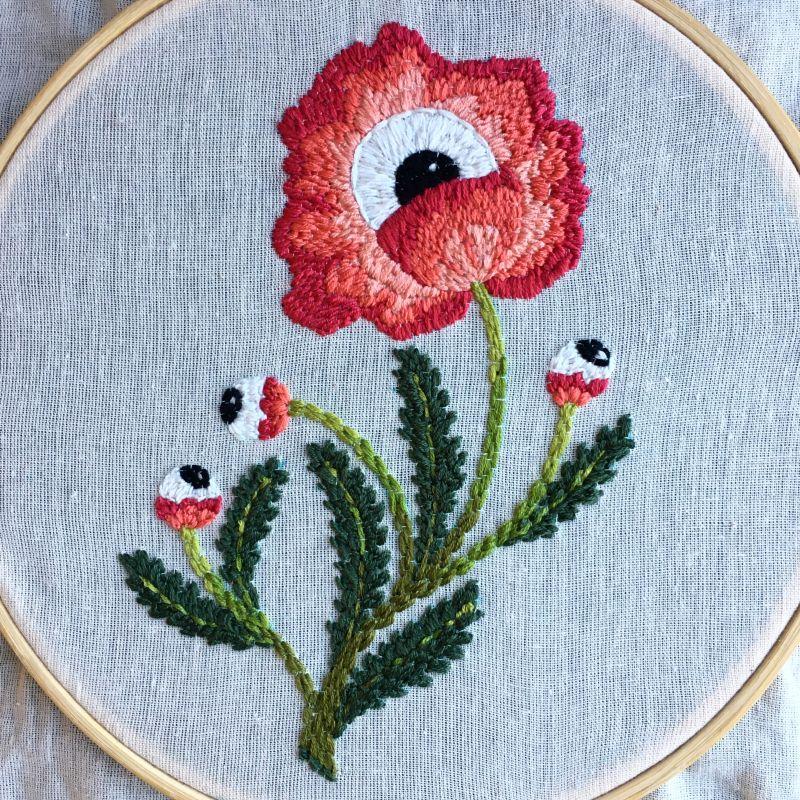 'fleurs avec vue' — embroidery