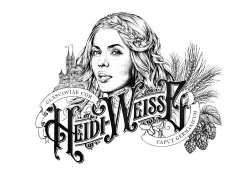 Heidi Weisse Beer Brand Packaging by Greg Coulton