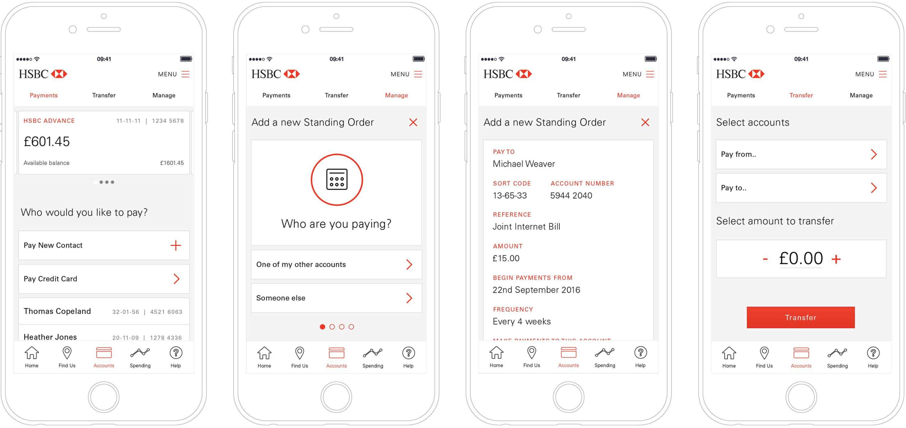 HSBC Mobile Banking App (Concept) | The Dots