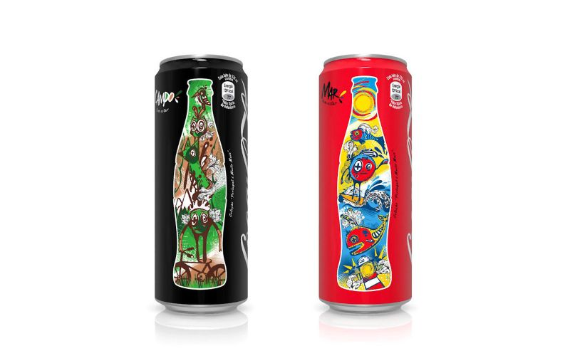 Coca-Cola Sleek Can Illustrations