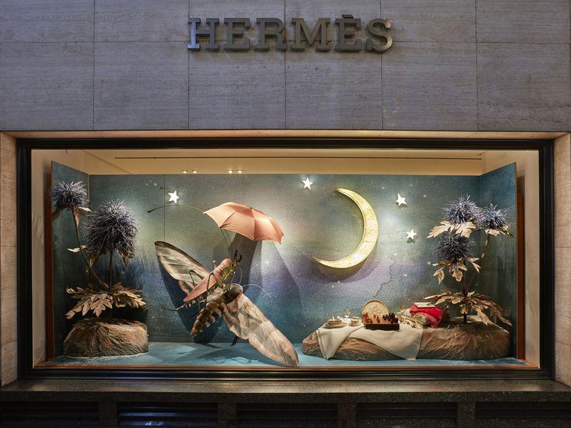 Hermes Christmas Windows 2017 London & Ireland - Set design & Art direction by Rhea Thierstein