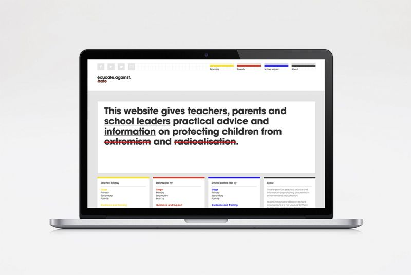 Educate Against Hate website