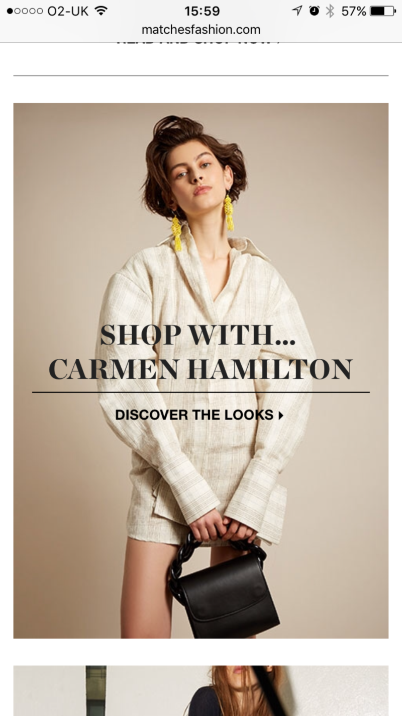 Matches Fashion.com Shop With Carmen Hamilton