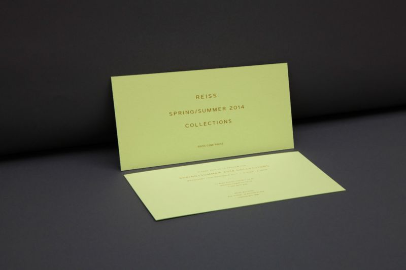 Reiss SS14 Press Invite