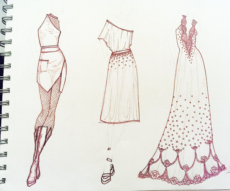 Quick Three Fashion Sketches
