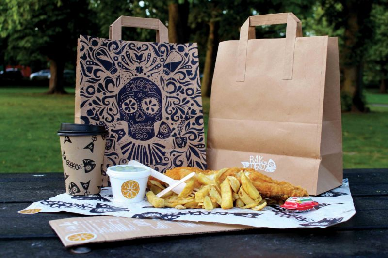 'Bay of the Dead' Mexican Fish and Chip Packaging