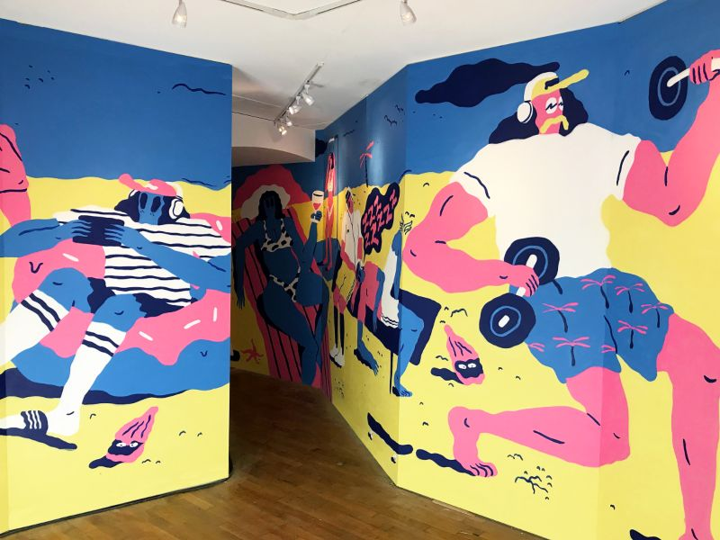 Jose Mendez - Spotify Mural at CANNES Lions