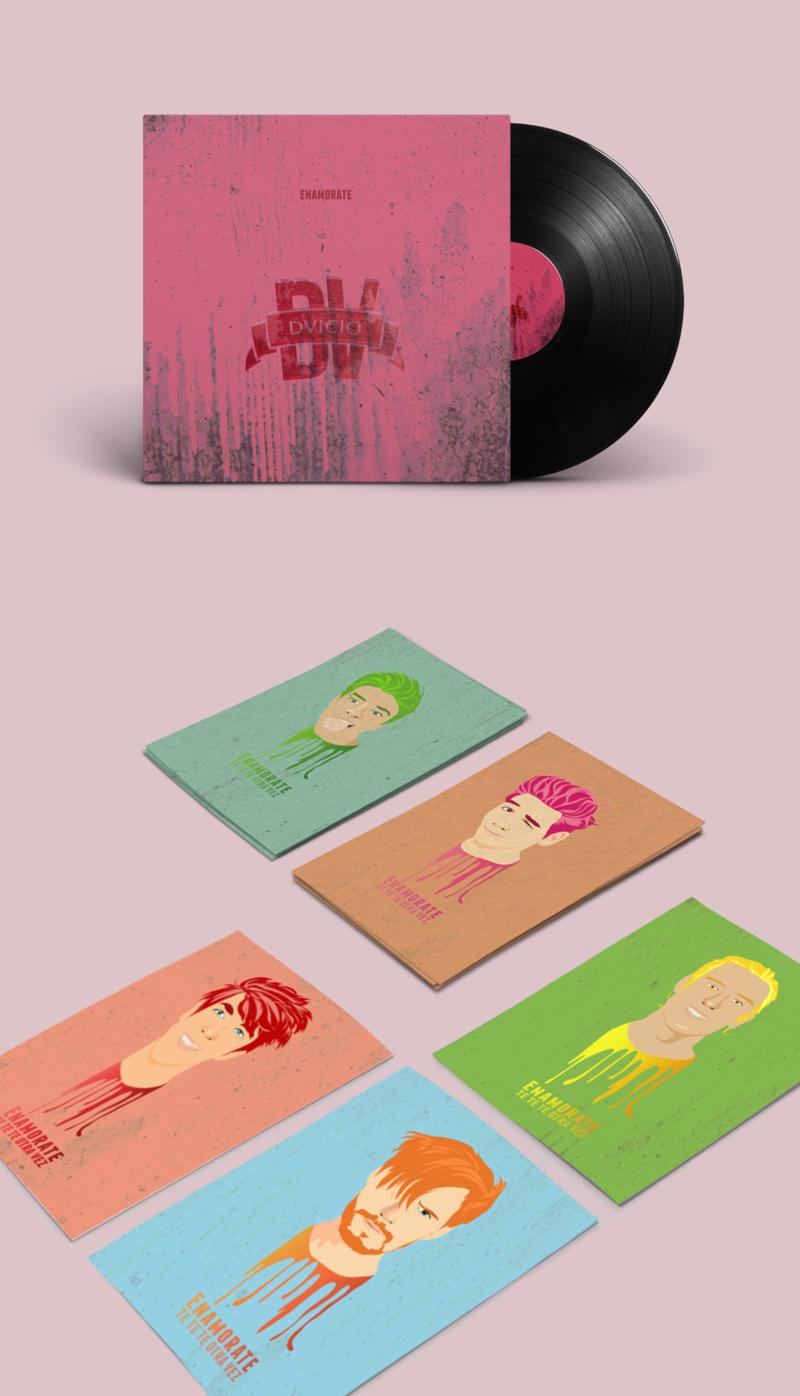 Enamorate Promo: Vinyl Record + Postcards