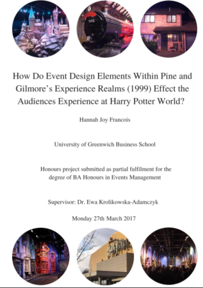 Dissertation - Experience Design