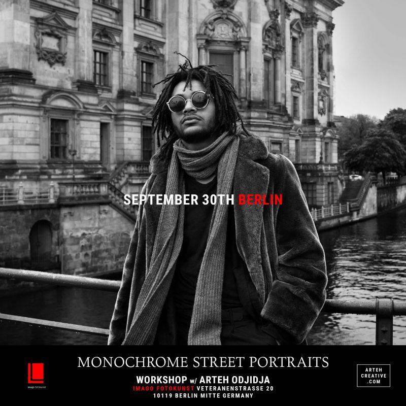 Monochrome Street Portraits Workshop with Arteh Odjidja - 30th September 2017  - Berlin Germany.